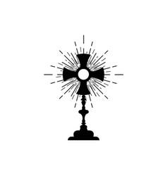 Monstrance ostensorium used in roman catholic vector