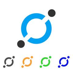 Node link icon vector