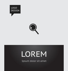 of science symbol on loupe vector image