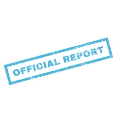 Official Report Rubber Stamp vector