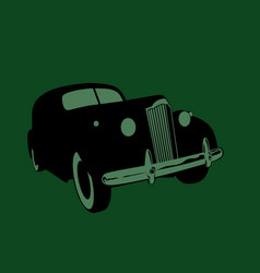old time car stylized drawing a retro car vector image