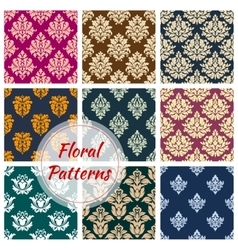 Ornamental floral seamless pattern background vector