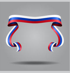 Russian flag wavy ribon background vector