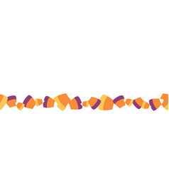 Scattered sweet candy corn seamless border vector