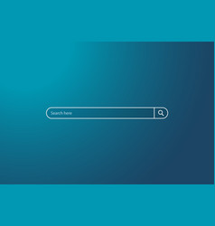 search bar on background sky simple search vector image