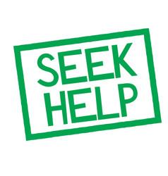 Seek help stamp on white vector