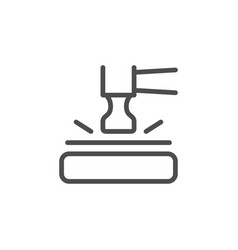 Shockproprotection device line icon vector