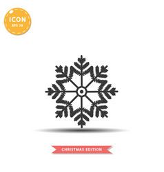 snowflake icon simple flat style vector image