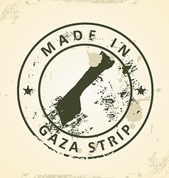 Stamp with map of Gaza Strip vector image