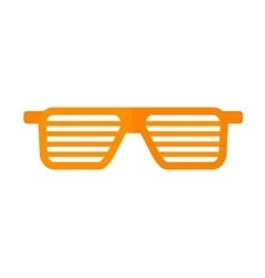 Striped glasses vector