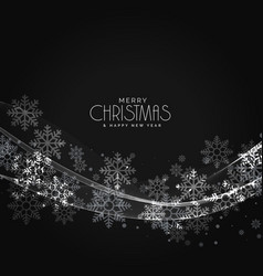 Stylish dark christmas snowflakes background with vector