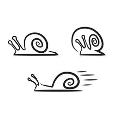 Stylized snails vector