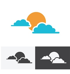 sun cloud logo vector image