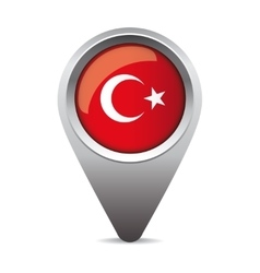 turkey flag pointer vector image