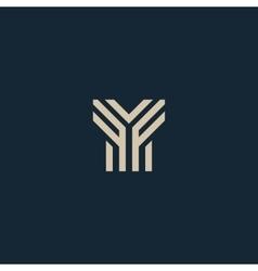 Unusual geometric letter Y Architecture vector