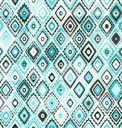 vintage mosaic seamless with grunge effect vector image