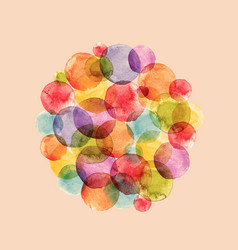 Watercolor rainbow air baloons vector