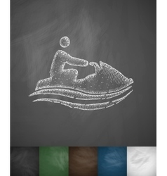 watercraft icon vector image