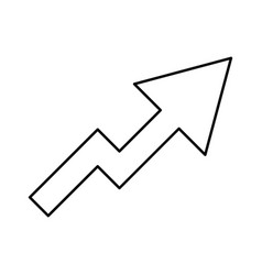chart of growth black color icon vector image