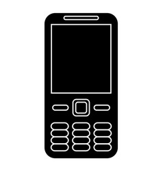 mobile phone call technology pictogram vector image