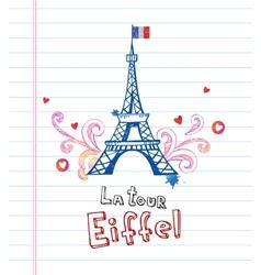 Paris post card vector image