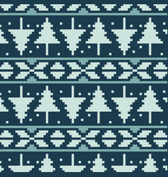 pixel spruces seamless pattern vector image
