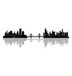 The silhouette of the city vector image vector image
