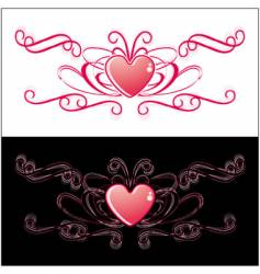 two identical hearts vector image
