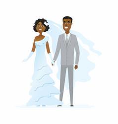 wedding - cartoon people characters isolated vector image