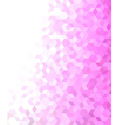 3d cube mosaic pattern background vector image