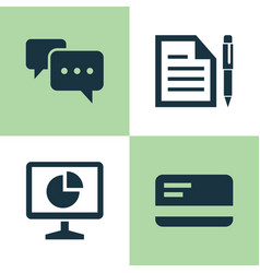 business icons set collection of chatting vector image