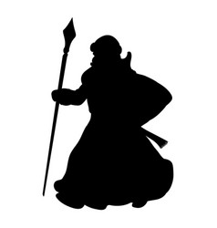 grandfather frost silhouette new year vector image vector image