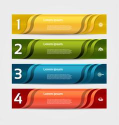 modern wave infographics options banner vector image