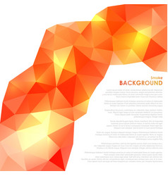 abstract triangular orange background vector image vector image