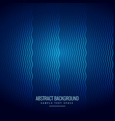 blue background with wavy lines pattern vector image