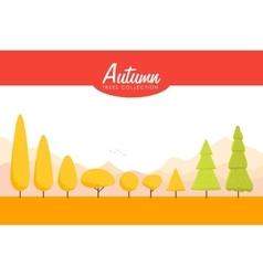 Cartoon Autumn trees set Low poly vector image