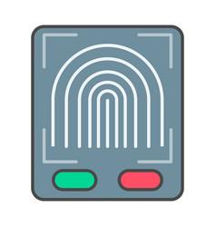 Fingerprint scan system pictogram vector