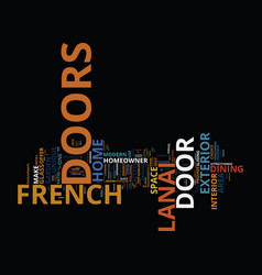 French doors vs lanai doors what fits your home vector