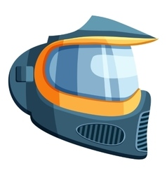Mask for paintball icon cartoon style vector image