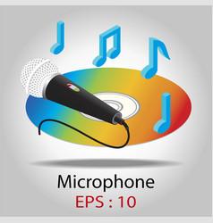 microphone for karaoke vector image
