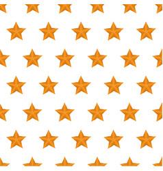 seamless pattern summer beach starfish background vector image