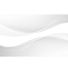 Abstract white waves vector image vector image