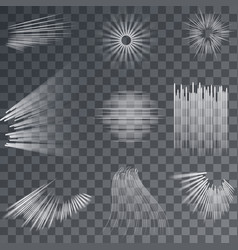 Action lines gradient texture set vector