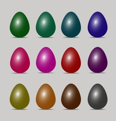 easter egg colors art design vector image vector image