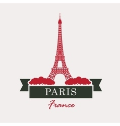 Paris and Eiffel Tower vector image vector image
