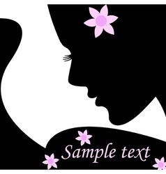 Silhouette female vector image vector image