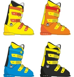 ski boots vector image