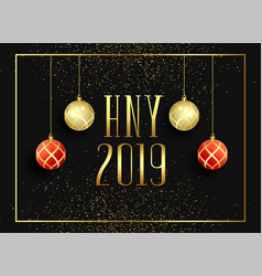 2019 happy new year seasonal greeting background vector image