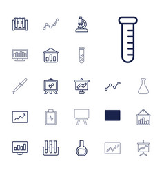 22 analysis icons vector