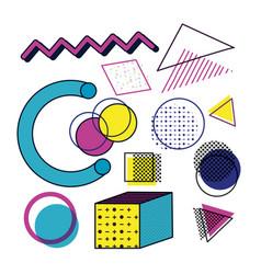 90s retro design vector